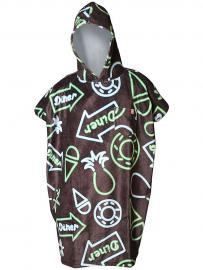 After Neon Surf Poncho black