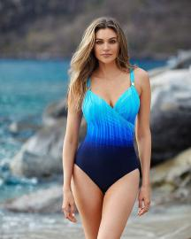 Miraclesuit Belle Trois Siren Swimsuit in Twilight Blue 12