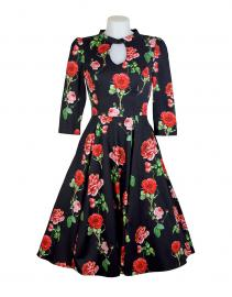 Hearts & Roses Black Red Roses Dress 12