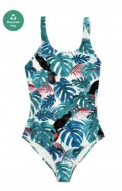 COLOUR LEAVES Swimsuit Green - S
