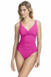 Gottex Profile Tutti Frutti Wrap Swimsuit in Fuchsia 14
