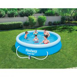 BestWay 12ft x 30inch Fast Set™ Above Ground Swimming Pool With Filter