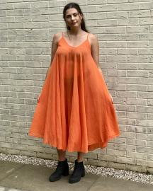 Strappy Cover Up Dress In Orange