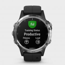 Garmin fenix 5 Plus Multisport GPS Watch, Black/BLK/BLK