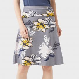 Weird Fish Womens Malmo Floral Skirt, Grey/Grey