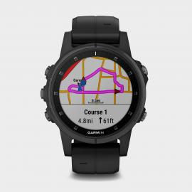 Garmin Fenix 5S Plus Multi-Sport GPS Watch, Black/Black