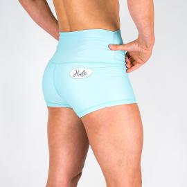 Halo Turquoise High Rise Roll Down Booty Shorts