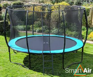 SmartAir Turquoise 14ft trampoline package