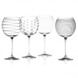 Set Of Four Gin Glasses