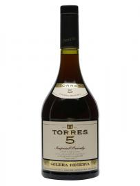 Torres 5 Solera Reserva Imperial Brandy 5 Year Old / Litre
